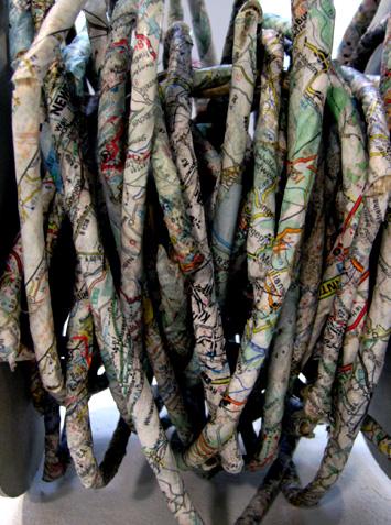 corde et papier, territoire enroulé, 2007