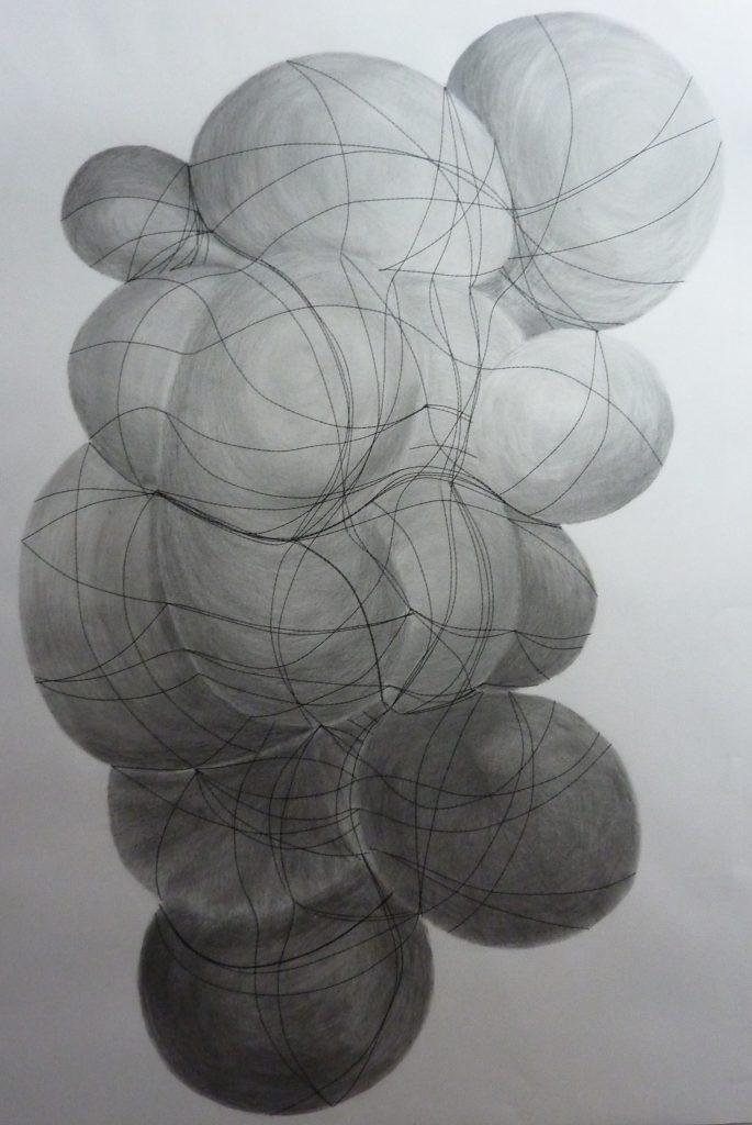 Mine graphite et collage, 2014